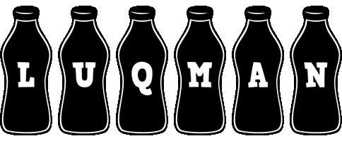 Luqman bottle logo