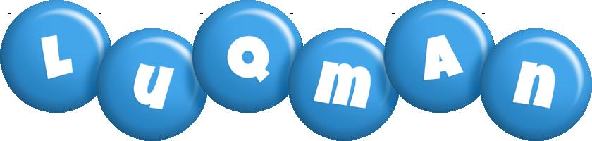 Luqman candy-blue logo