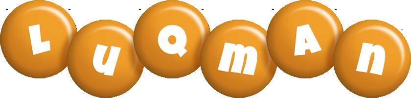 Luqman candy-orange logo