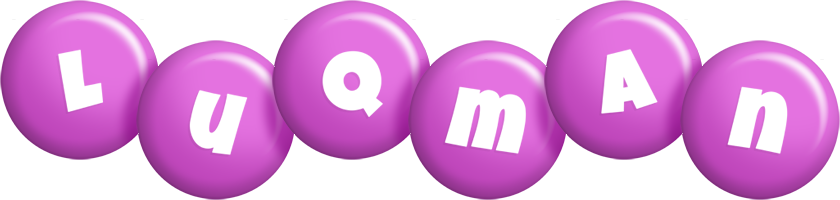 Luqman candy-purple logo