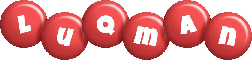 Luqman candy-red logo