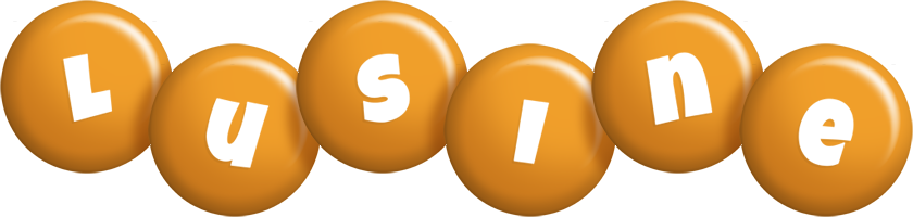 Lusine candy-orange logo