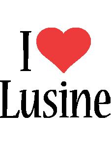 Lusine i-love logo