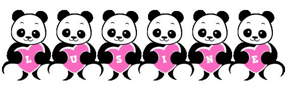 Lusine love-panda logo