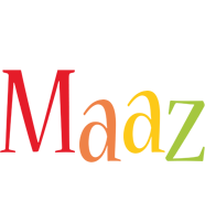 Maaz birthday logo