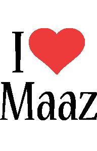 Maaz i-love logo