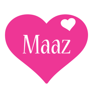 Maaz love-heart logo
