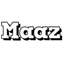 Maaz snowing logo
