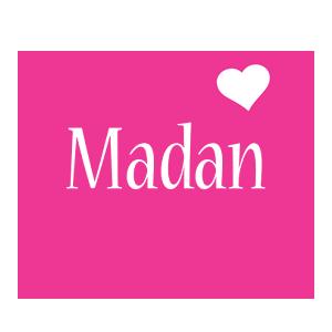 Madan love-heart logo