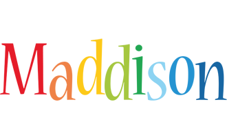 Maddison birthday logo