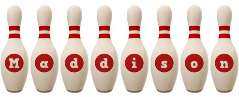 Maddison bowling-pin logo