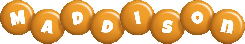 Maddison candy-orange logo