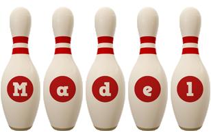 Madel bowling-pin logo