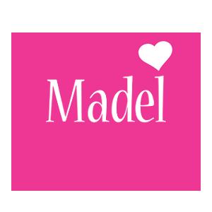Madel love-heart logo