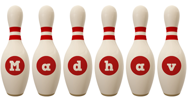 Madhav bowling-pin logo