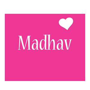 Madhav love-heart logo