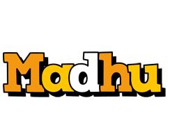 Madhu cartoon logo