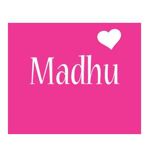 Madhu love-heart logo