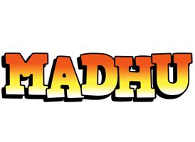Madhu sunset logo