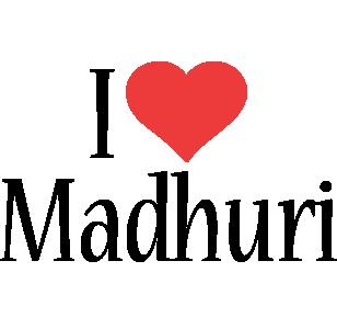 Madhuri i-love logo