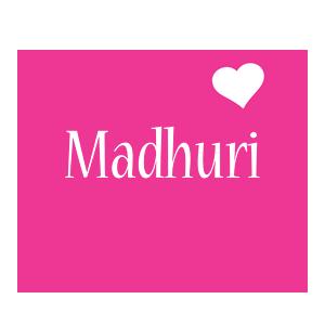 Madhuri love-heart logo
