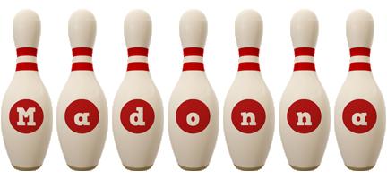 Madonna bowling-pin logo
