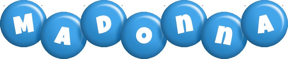 Madonna candy-blue logo