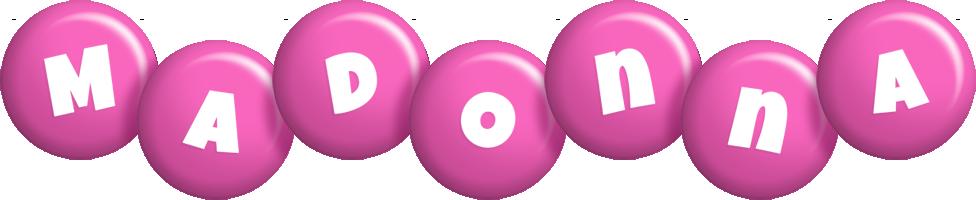 Madonna candy-pink logo