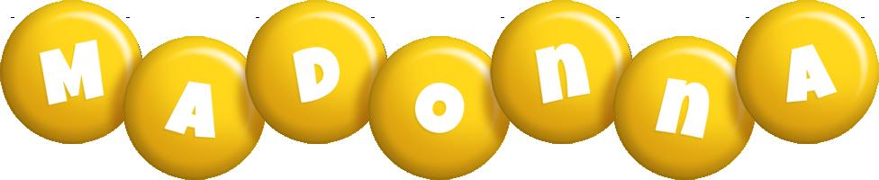 Madonna candy-yellow logo