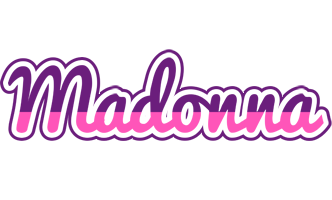 Madonna cheerful logo