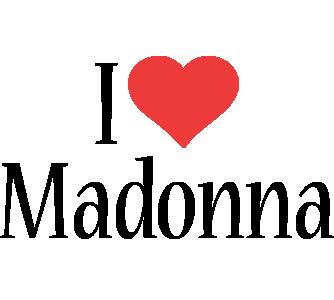 Madonna i-love logo