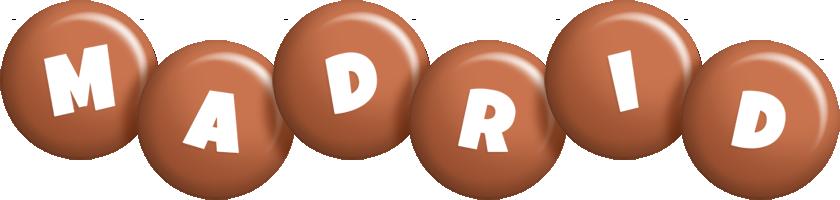 Madrid candy-brown logo