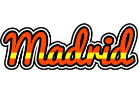 MADRID logo effect. Colorful text effects in various flavors. Customize your own text here: https://www.textGiraffe.com/logos/madrid/