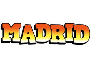 Madrid sunset logo