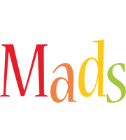 Mads birthday logo