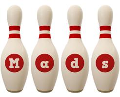 Mads bowling-pin logo