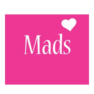 Mads love-heart logo