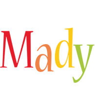 Mady birthday logo
