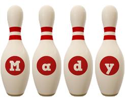 Mady bowling-pin logo