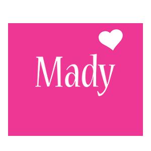 Mady love-heart logo