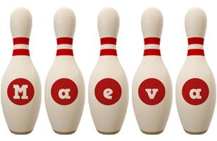 Maeva bowling-pin logo