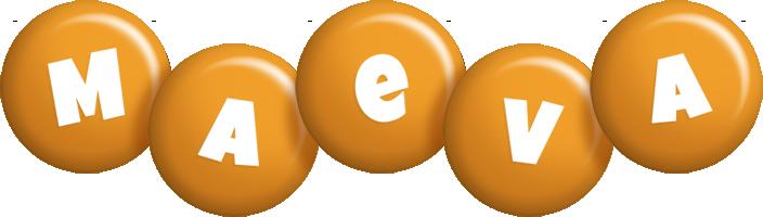 Maeva candy-orange logo