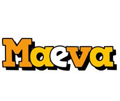 Maeva cartoon logo
