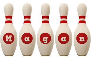 Magan bowling-pin logo