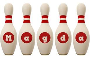 Magda bowling-pin logo