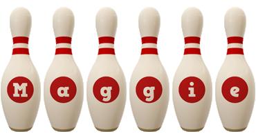 Maggie bowling-pin logo
