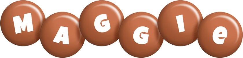 Maggie candy-brown logo