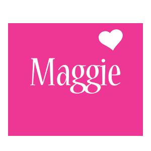 Maggie love-heart logo