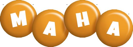 Maha candy-orange logo