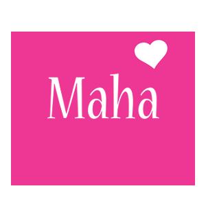 Maha love-heart logo